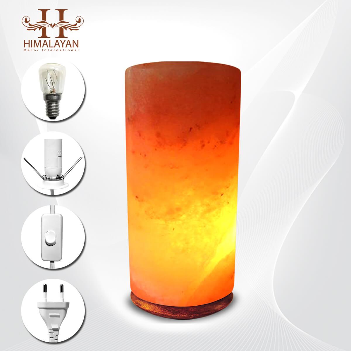 Himalayan Crystal Salt Lamps Cylinder Shape Decorative