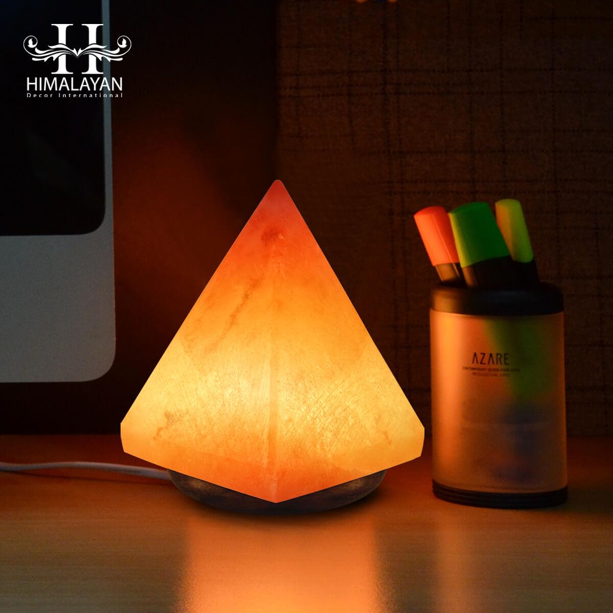 Himalayan Decorative Salt Lamps Pyramid Shape With