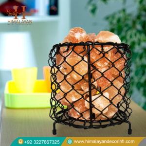 basket salt lamp