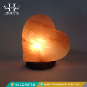 Heart salt lamps