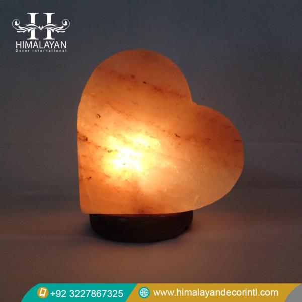 Heart salt lamps